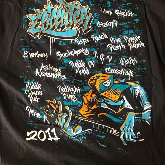 Other - Epicenter 2011 concert lineup T-shirt 2xl